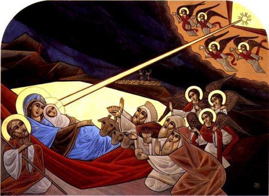 Kristi fødsel. Koptisk ikon.
