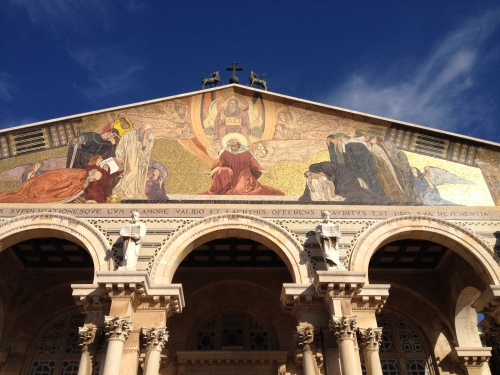 Den katolske kirken ved Getsemane-hagen i Jerusalem